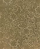 Suede pattern is floral with negative spaces that are burnished so the pattern seems embossed. poster