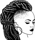 African American Black Pretty lady Classy Diva Queen Power Strong Female Woman Praying God Believe Life quotes poster
