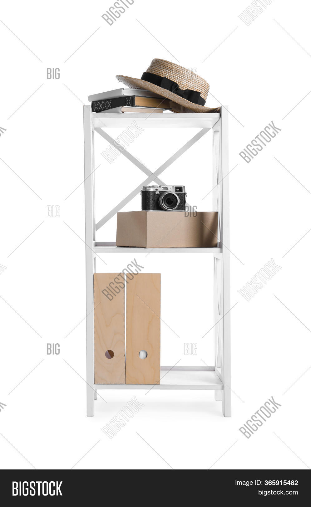 Wooden Shelving Unit Image Photo Free Trial Bigstock
