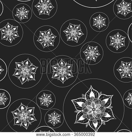 Mandala. Round Ornament. Vintage Decorative Elements. Seamless Pattern With Indian And Ottoman Motif