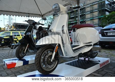 Quezon City, Ph - Apr 13 - Lambretta V200 Scooter Motorcycle At Rev Up Car Show On April 13, 2019 In