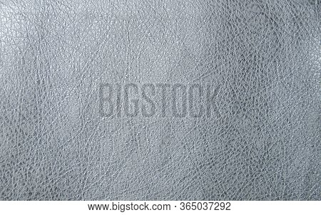 Faux Leather In Metallic White. Artificial Leather Texture. The Concept Of Snake Skin