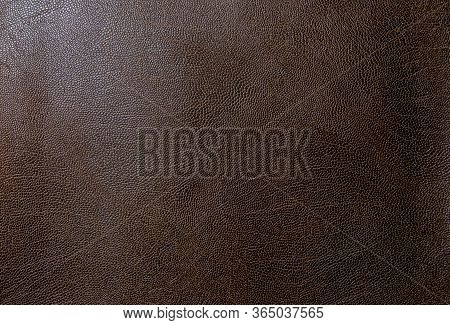 Brown Faux Leather. Faux Leather Texture Close Up