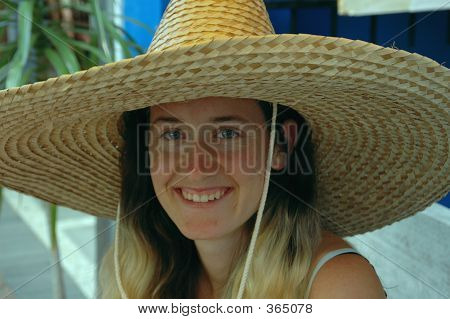 Girl In A Sombrero
