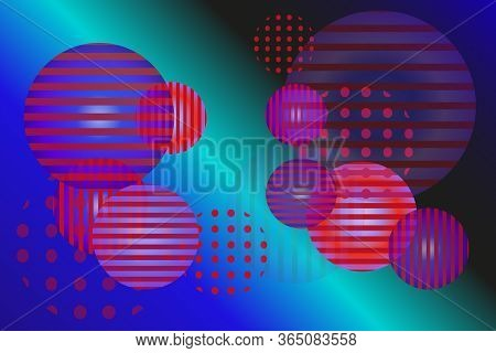 Round Balls With Different Ornaments And Transparencies Against Backdrop Of Outer Space.vector Patte
