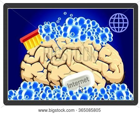 Brainwashing On Internet.  People Might Get Manipulated And Controlled When They Surf The Worldwide