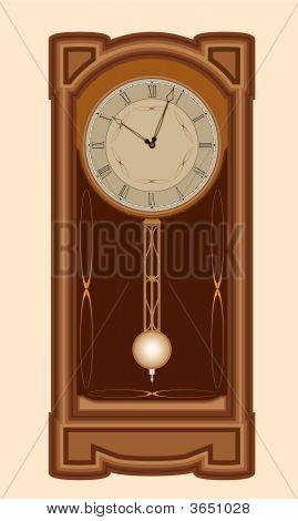 Clock With Pendulum.