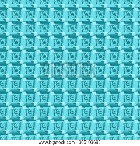 Teal Repeat Triangle Background With Abstract Geometric Truchet Seamless Textured Pattern Tile 3d Il