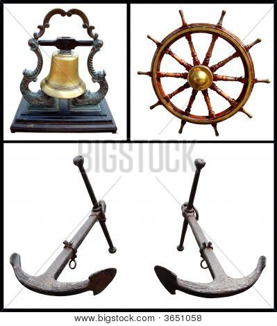 Bell, Wheel And Anchors