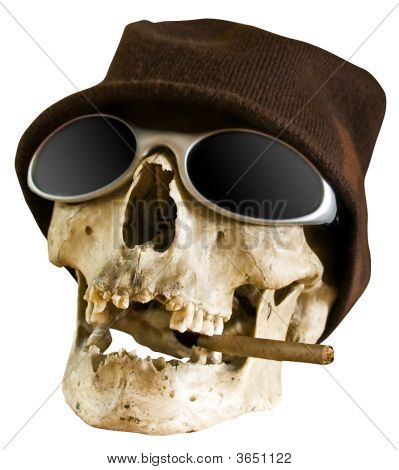 Human Skull - Smoking Kills