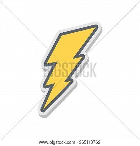 Lightning Bolt Icon. Lightning, Electric Power Vector Logo. Lightning Bolt Illustration Isolated Vec