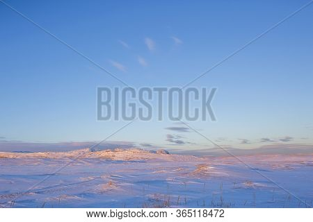 Snow Desert. Kola Peninsula Winter Landscape