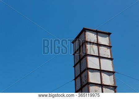 Sloss Furnaces National Historic Landmark, Birmingham Alabama Usa, Steel Framed Tower Isolated Again