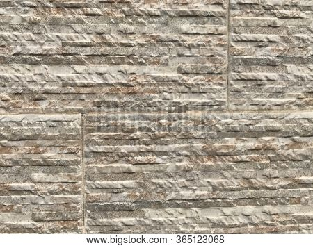 Compound Wall Or Residential Building Villa Exterior Wall Tiles With Stone Pitching Pattern Abstract