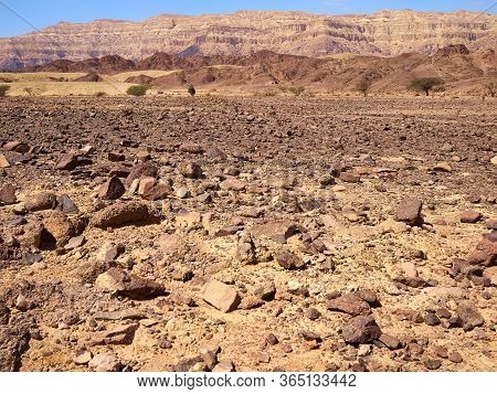 Timna Park And King Solomon\'s Mines National Park Negev Desert Israel Major Toursit Attraction Land
