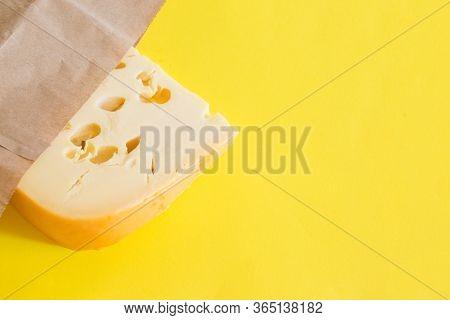 Maasdam Cheese On Yellow