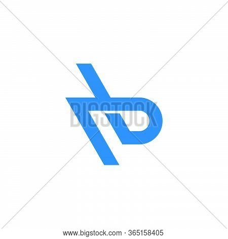 Letter Rb Simple Geometric Lines Logo Vector