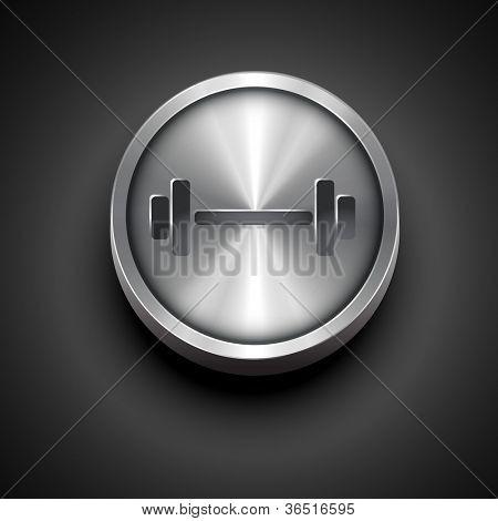 vector gym metallic icon design