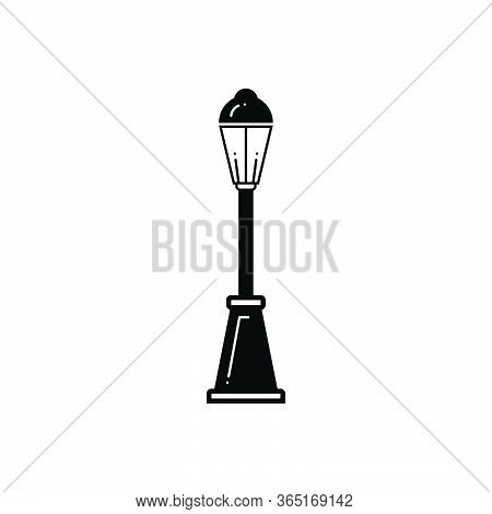 Black Solid Icon For Lamp Post  Street Lamp Ancient Streetlight