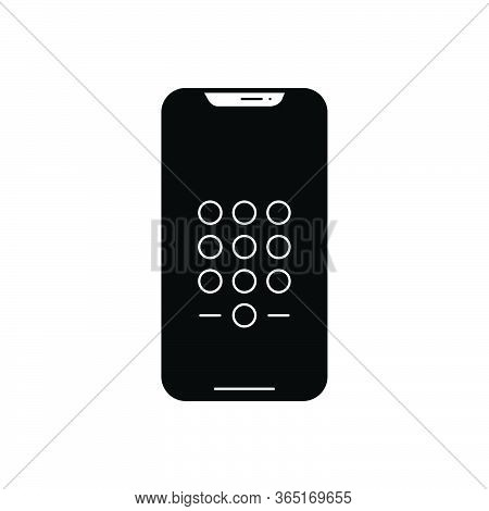 Black Solid Icon For Passcode Phone App Enter-passcode Login Device