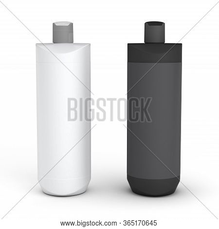 Two Blank Package (isolated With Clipping Path) 3d Rendering