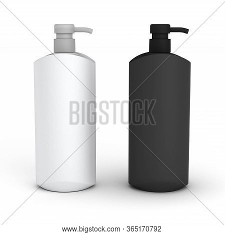 Two Blank Bottle (isolated With Clipping Path) 3d Rendering