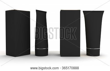 Two Blank Tubes (isolated With Clipping Path) 3d Rendering