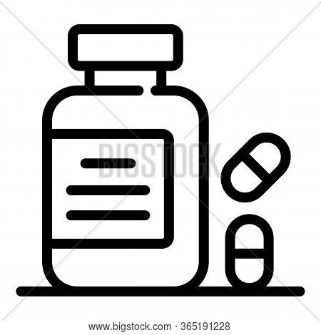 Nutritional Supplements Icon. Outline Nutritional Supplements Vector Icon For Web Design Isolated On