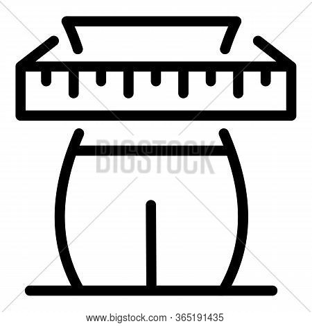Waist Size Icon. Outline Waist Size Vector Icon For Web Design Isolated On White Background