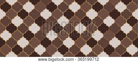 Moroccan Seamless Mosaic Ornament. Persian Mosque Window Grid. Eid Mubarak Islamic Decoration. Tradi
