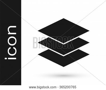 Grey Layers Clothing Textile Icon Isolated On White Background. Element Of Fabric Features. Vector I