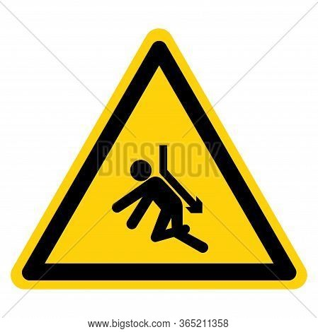 Warning Back Crush Force From Above Symbol Sign, Vector Illustration, Isolate On White Background La