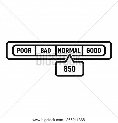 Normal Credit Score Icon. Outline Normal Credit Score Vector Icon For Web Design Isolated On White B
