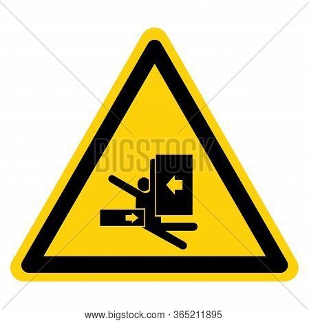 Warning Body Crush Force From Side Symbol Sign, Vector Illustration, Isolate On White Background Lab