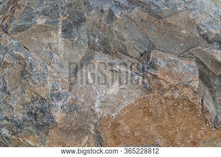 Gold Ore Texture Close-up. Contains Quartz, Mica, Feldspar, Chlorite, Garnet, Carbonate, Sulfides An