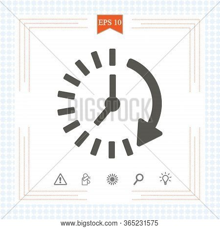 Time Icon. Time And Watch, Timer Symbol. Ui. Web. Logo. Clock Sign. 24 Hours Time Icon. Watch Symbol
