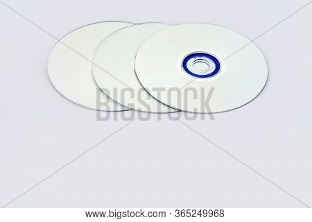Compact Disc Cd With Reflections In Front