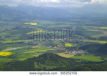 Poludnica Peak - A Hill With Beautiful Views Of The Low Tatras And The Villages Of Upper Liptov - Li