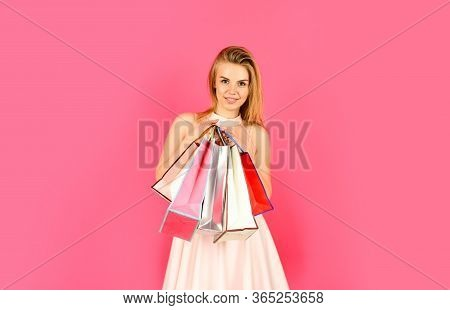 Fashion Is Nothing But Choice. Successful Shopping. Black Friday Concept. Shopping Online. Buy Cosme