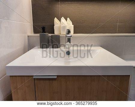 Interior Design Of Villa, House, Home, Condo And Apartment Feature Basin, White Modern Wash Basin An