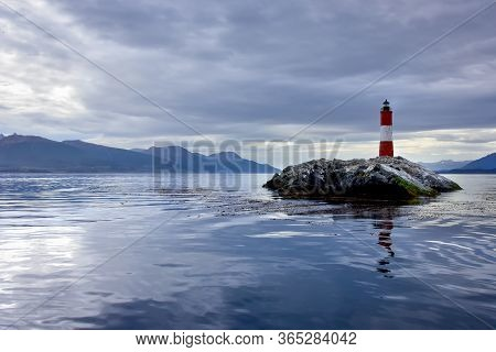 Les Eclaireurs Lighthouse, In The Beagle Channel, Near Ushuaia, Argentina