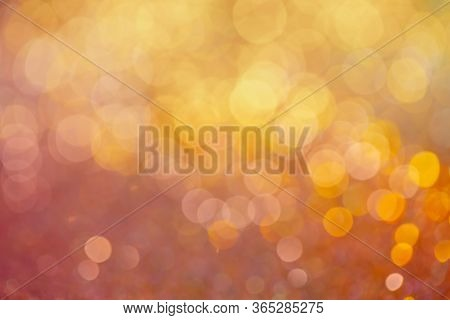 Decoration Twinkle Glitters Background, Abstract Glowing Backdrop With Circles, Modern Design Wallpa