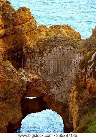 Ponta Da Piedade Rock Formations On The Algarve Coast