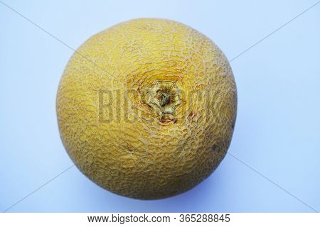 Top View Of Indian Fruit Muskmelon, Galia Melon Sweet In Taste Healthy To Eat With Vitamin C , Hydra