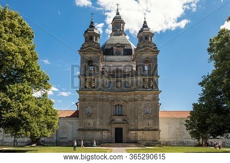 Kaunas, Lithuania - June 23, 2019: Pazaislis Monastery And The Church Of The Visitation, The Most Ma