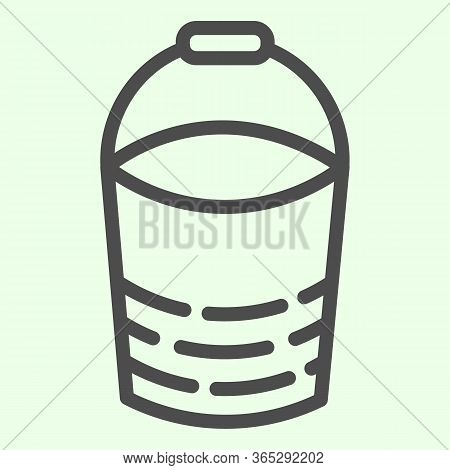 Bucket Line Icon. Building Or Domestic Bucketful Outline Style Pictogram On White Background. Housew