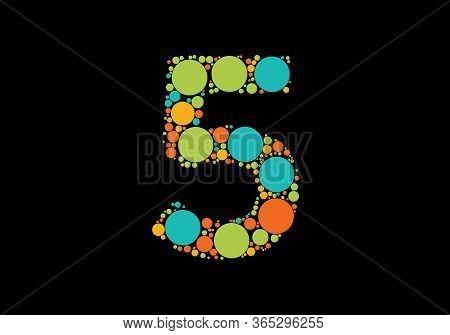 5 Logo, 5 Logo Design, Initial 5 Logo, Circle 5 Logo, Real Estate Logo
