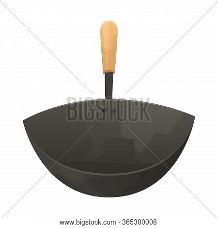 Chinese Frying Pan Wok On White Background Vector
