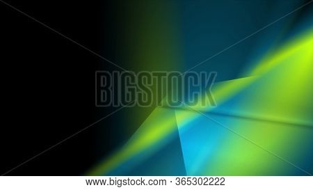 Green blue glossy glowing abstract background