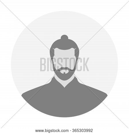 Gentleman Avatar Profile Icon Image. Default User With Hairstyle Vector Illustration